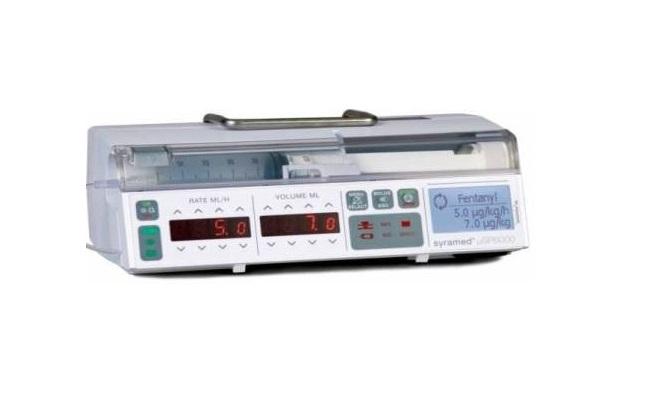 Bomba de Jeringas Syramed® µSP6000 Classic Plus