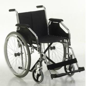 Silla de ruedas de acero Línea SILVER Modelo Standard